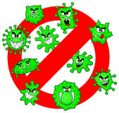Viruses are not permitted Stock Images