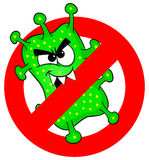 Viruses are not permitted Royalty Free Stock Image