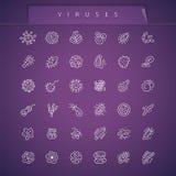 Viruses Thin Icons Set Royalty Free Stock Image