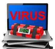 Viruset bombarderar Arkivfoton