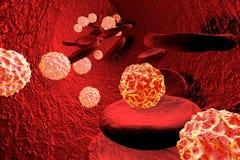 Virussen in bloed Algemene virale besmetting vector illustratie