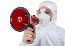 Viruswaarschuwing stock foto's