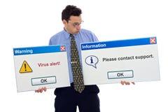 Viruswarnung Lizenzfreies Stockbild