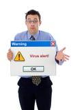 Viruswarnung Stockbild