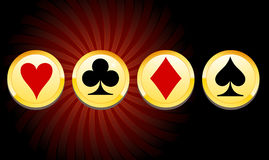 Viruta de juego del casino Imagen de archivo libre de regalías