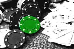 Viruta de póker Foto de archivo