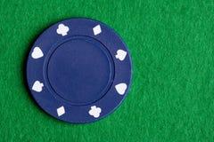 Viruta de póker azul Fotografía de archivo libre de regalías