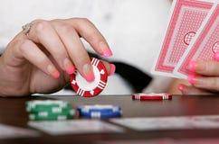 Viruta de póker del primer Fotos de archivo