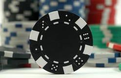 Viruta de póker negra Imagenes de archivo