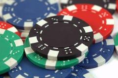 Viruta de póker negra Fotos de archivo