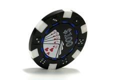 Viruta de póker Foto de archivo libre de regalías