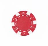 Viruta de póker roja Imagen de archivo libre de regalías