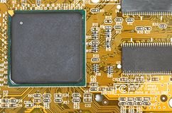 Viruta en el ordenador de tarjeta Imagen de archivo libre de regalías