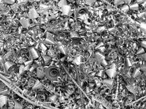 Viruta/virutas del metal Fotos de archivo libres de regalías