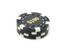 Virutas $100 del casino. Fotos de archivo libres de regalías