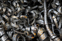 Virutas de acero Imágenes de archivo libres de regalías