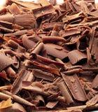Virutas de chocolate Imágenes de archivo libres de regalías