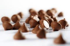 Virutas de chocolate fotos de archivo
