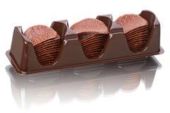 Virutas de chocolate del conjunto foto de archivo libre de regalías