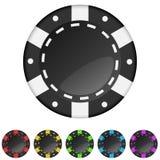 Virutas de juego del casino Imágenes de archivo libres de regalías