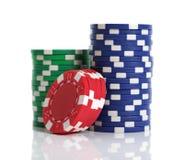 Virutas de juego del casino Imagen de archivo