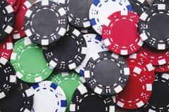 Virutas de juego del casino fotografía de archivo