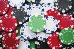 Virutas de juego del casino fotografía de archivo libre de regalías