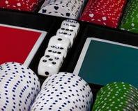 Virutas de juego del casino Imagen aislada imagen de archivo