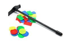 Virutas de juego del juguete imagen de archivo libre de regalías