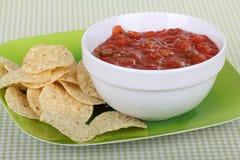 Virutas de la salsa y de tortilla Imagenes de archivo
