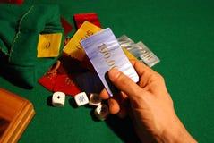 Virutas de los dados del póker Foto de archivo