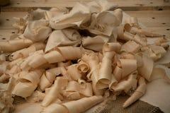 Virutas de madera Fotografía de archivo libre de regalías