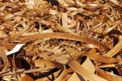 Virutas de madera rizadas Imagen de archivo libre de regalías