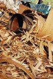 Virutas de madera rizadas Foto de archivo libre de regalías