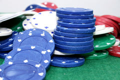 Virutas de póker 01 imagen de archivo libre de regalías