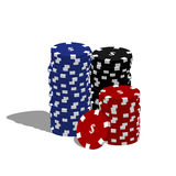 Virutas de póker Imagen de archivo