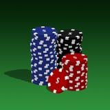 Virutas de póker stock de ilustración