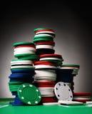 Fichas de póker Fotografía de archivo