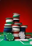 Fichas de póker Foto de archivo libre de regalías