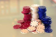 Virutas de póker 3 Foto de archivo