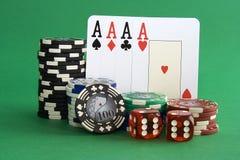 Virutas de póker Fotografía de archivo libre de regalías