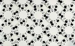 Virutas de póker blancas Fotografía de archivo libre de regalías