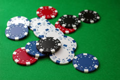 Virutas de póker clasificadas Imagen de archivo libre de regalías