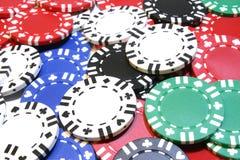 Virutas de póker del fondo Imágenes de archivo libres de regalías