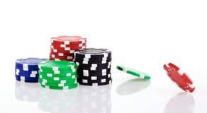 Virutas de póker Imagen de archivo libre de regalías