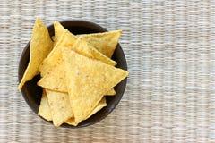 Virutas de tortilla mexicanas Fotografía de archivo