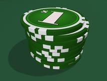 Virutas de un dólar Imagen de archivo libre de regalías
