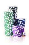 Virutas del casino imagen de archivo libre de regalías