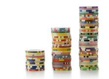 Virutas del casino Imágenes de archivo libres de regalías