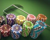Virutas del casino Fotos de archivo libres de regalías